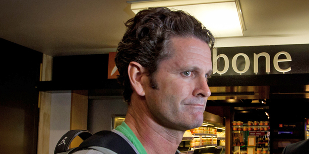 Chris Cairns arrives at Auckland Airport after leaving his commentary duties at the first test in Dunedin. Photo / Richard Robinson