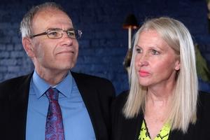 Len Brown and wife Shan Inglis. Photo / Doug Sherring