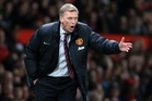 David Moyes urges his players on.