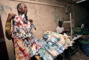 Pathe Ouedraogo, Burkina Faso born tailor of Nelson Mandela, in his workshop. Photo / AFP
