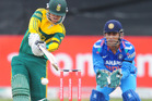 Quinton de Kock hit his third straight ODI ton against India. Photo /AP