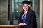 Fiapaipai Tanea-Sakuma, 28, has graduated from AUT with a degree in computer science. Photo / Natalie Slade