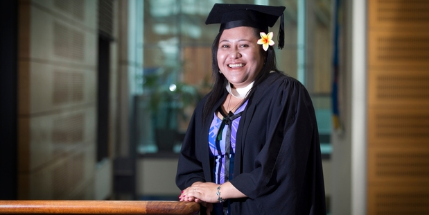 Fiapaipai Tanea-Sakuma, 28, has graduated from AUT with a degree in computer science. Photo / Natalie Slade