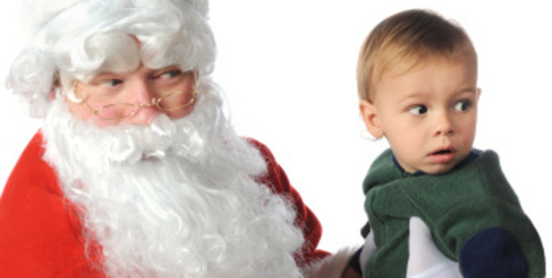 Stranger danger doesn't apply to Santa.