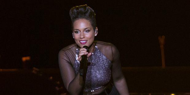 Alicia Keys performs at Vector Arena. Photo/Greg Bowker
