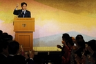 Japanese Prime Minister Shinzo Abe gained support from Asean members over China's defence moves. Photo / AP