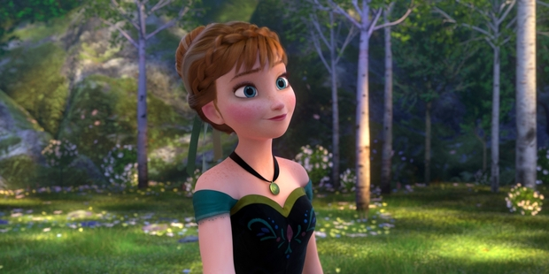 Anna, voiced by Kristen Bell, goes to the rescue in Frozen.
