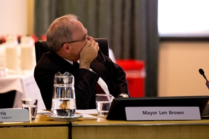 It must now be ascertained if Mayor Len Brown himself solicited SkyCity's $15,000 donation to his 2010 campaign. Photo / Dean Purcell