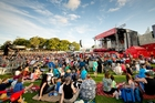 Thousands of festival-goers in the Auckland Domain. Photo / Shaun Jeffers