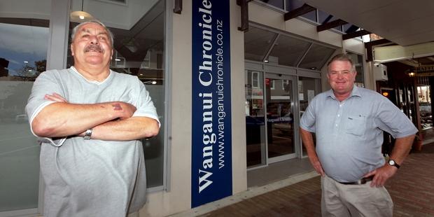 Coastguard Wanganui vice-president Bill Greening (left) and fundraiser Jeremy Austin. Photo/Stuart Munro