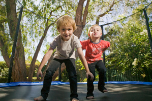 Trampolines remain a popular Christmas gift idea. File photo / NZ Herald