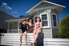 Kerryn Adamson and her children, Tomas and Georgina Ogden, love living in their character Grey Lynn villa, which has been renovated and insulated. Photo / Sarah Ivey