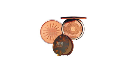 Estee Lauder Bronze Goddess Powder Bronzer (in four shades); Clarins Splendours Summer Bronzing Compact; Maybelline Dream Terra Sun Bronzing Powder. Photo / Supplied.