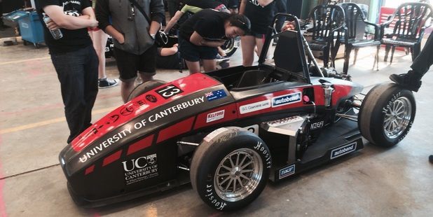 The car was designed and built by University of Canterbury (UC) mechanical engineering students.
