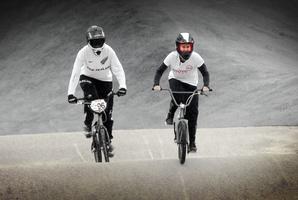 Sarah Walker shares her expert BMX racing tips with Rachel Grunwell. Photo / Doug Sherring