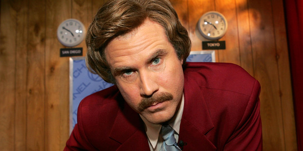 Actor Will Ferrell as 'Ron Burgundy'.