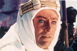 Peter O'Toole in Lawrence of Arabia in 1962.