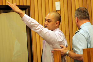 Thomas Tamatea Ariki Nui McGregor after his sentencing in the High Court at Wanganui Wednesday.