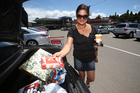 Linda Carroll was trying to finish her Christmas shopping at Fraser Cove. Photo / Joel Ford