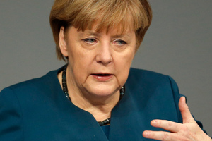 German Chancellor Angela Merkel. Photo / AP