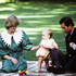 Prince Charles, Princess Diana and baby Prince William on the front lawn of Government House Auckland, 1983. Photo / NZH