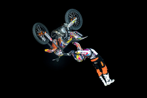 Levi Sherwood is flying the Kiwi flag in the X-Fighters world series. Picture / Red Bull Content Pool