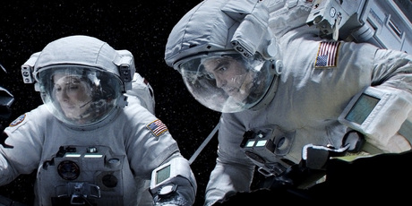 Sandra Bullock and George Clooney in 'Gravity'.