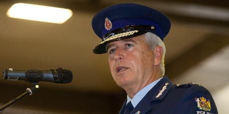 Police Commissioner Peter Marshall speaks to the graduates.