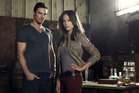 Jay Ryan and Kristin Kreuk in 'Beauty and the Beast'.