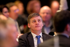 Bill English today revealed the Treasury's latest take on the state of the Government books. Photo / Richard Robinson