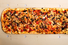 Metre long Pollo Pizza from Toto Pizza. Photo / Babiche Martens.