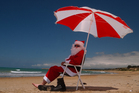 Santa might be needing an umbrella on Christmas Day. Photo / File