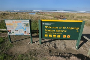 Te Angiangi Marine Reserve. Despite a rumour, there is no 'open fishing day' today, says DoC. Photo / APN