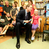 Prince William poses for a photo with Ashleigh Knight (8 yrs) at Wellington Hospital, 2010. Photo / NZH