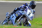 Te Awanga's Eddie ``The Kat'' Kattenberg (Yamaha FZR1000), winning at Manfeild on Sunday. Photo/Andy McGechan Bikesportnz.com