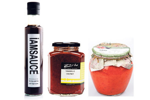 Tamarillo Chutney from Zarbo; Iamsauce from Countdown; Don Pepino pepper and eggplant spread from Farro Fresh.  Photos / Supplied.