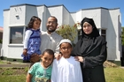 MINISTER OF RELIGION: Mohamed Zewada will still have to go to work in his role as imam at Hastings mosque this Christmas Day. Pictured is Mr Zewada with his wife Asmaa Ibrihm and their children Afnaan (left), Anas and Ayman Zewada. PHOTO/DUNCAN BROWN HBT134595-01