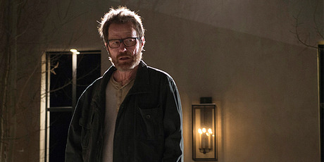 Bryan Cranston playing Walter White in the TV series Breaking Bad.