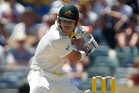 David Warner scored 112 runs before being caught off a Graeme Swann delivery. Photo / AP