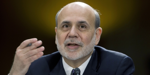 Loading Fed chairman Ben Bernanke said the central bank planned to hold its key short-term rate near zero. Photo / AP