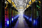 The network room at a Google data centre in Iowa. Photo / AP