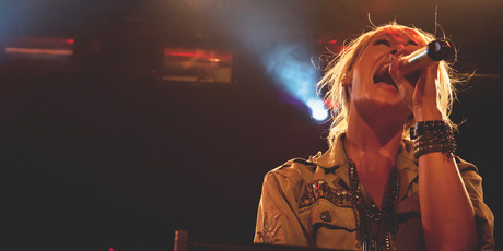Metric's front woman, Emily Haines, at the Powerstation in Auckland. Photo / Michelle Deacon (Outstretched Photography)