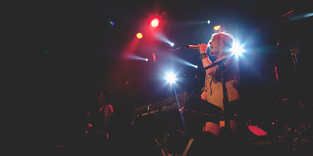 Canadian band Metric, lead by Emily Haines, at the Powerstation. Photo / Michelle Deacon (Outstretched Photography)
