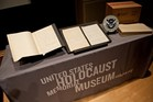 Pages from the diary of German Nazi ideologue Alfred Rosenberg are displayed at the Holocaust Memorial Museum in Washington. Photo / AP