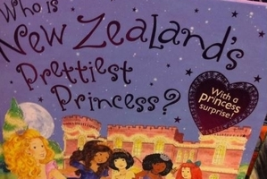 """Kindest princess? Bravest princess? No, the prettiest. And it's me, according to the mirror in the back of the book."""