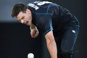 Mitchell McClenaghan has been given a licence to take wickets, no matter what the cost. Photo / Greg Bowker