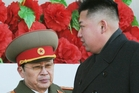 Kim Jong Un, right, with disgraced uncle Jang Song Thaek. Photo / AP