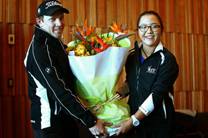 Lydia Ko and her former coach Guy Wilson earlier this year. Photo / Getty Images