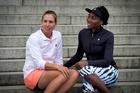 Venus Williams and Marina Erakovic in Auckland yesterday. Photo / Natalie Slade