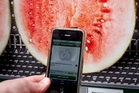A melon smell can be imparted from an iPhone. Scientists are still working on transmitting smell digitally, without using a sachet. Photo / Dean Purcell